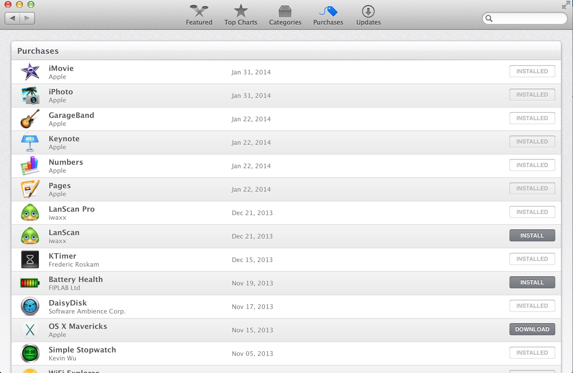App Store Purchased Items